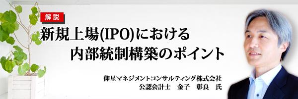 新規上場(IPO)における内部統制構築のポイント