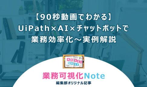 【90秒動画でわかる】UiPath×AI×チャットボットで業務効率化~実例解説