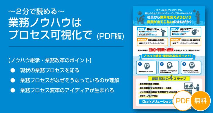 【無料ダウンロード】~2分で読める~ 業務ノウハウはプロセス可視化で (PDF版)