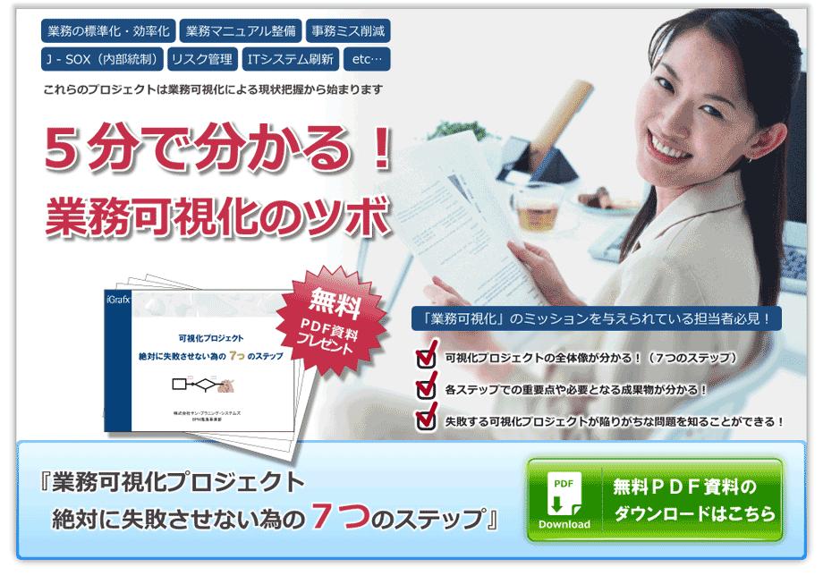 5分で分かる業務可視化のツボ-無料PDFプレゼント