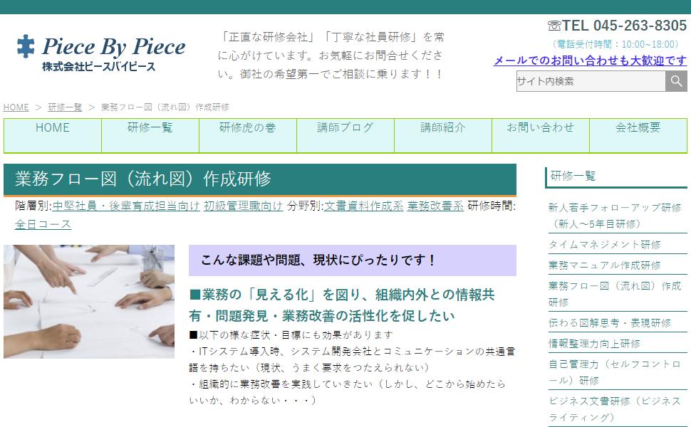 株式会社ピースバイピース / 業務フロー図(流れ図)作成研修